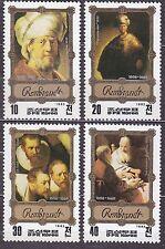 KOREA Pn. 1983 MNH** SC#2264/67 set,  Rembrandt Paintings.