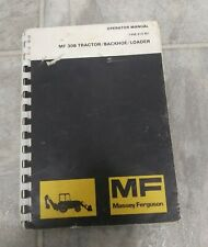 Massey Ferguson Mf 30b Tractorbackhoeloader Operators Manual