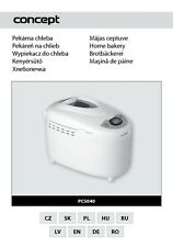 Concept Pc-5040 Bread Machine Owners Manual