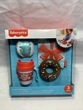 Fisher-Price Season's Greetings Gifts Crinkle Jingle Snowball Teetheable Cup W1