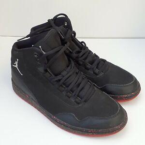NIKE Men Jordan Executive preminum Black Leather Trainers 845057 004 size 8.5