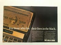 American Express The Gold Card  Vintage1983 Print Ad