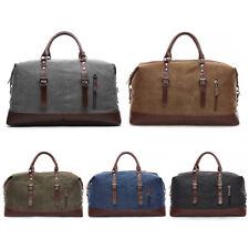 Vintage Men Canvas Travel Duffle Bag Gym Weekend Carry On Shoulder Bag Luggage