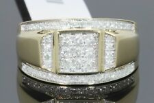 10K YELLOW GOLD .72 CARAT MENS REAL DIAMOND ENGAGEMENT WEDDING PINKY RING BAND