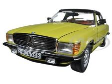 1977 MERCEDES 350 SL CLOSED CONVERTIBLE MIMOSA YELLOW 1/18 CAR  BY SUNSTAR 4568