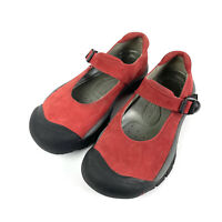 Keen Seattle Shoes Womens 7.5 Leather Rubber Burnt Red Hiking Mary Janes