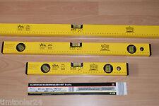 3 tlg. SET Alu Wasserwaage 40 Zoll + 60 + 100 cm 3 Libellen 1m 1000 Wasserwaagen