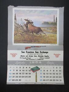 Vintage Remington Peters 1964 September October calendar page Testing the King!