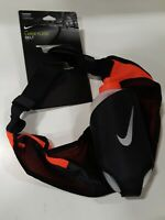 Nike Running Large 20oz Flask Hydration Running Belt, Black / Crimson Adjustable