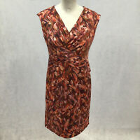 Womens Size 10 Minuet Petitie Multi Colour Sleeveless Dress Event Occasion New