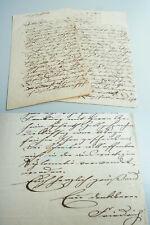 Architekt Friedrich FEEDERLE (1825-1869): 2 eh. Briefe LÖRRACH 1862/63 an Eltern