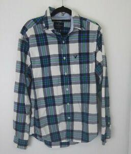 American Eagle Classic Fit Check Long Sleeve Shirt Sz S
