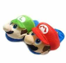 1-X Super Mario Brothers Plush Slippers Cartoon Warm Shoes For Kids X'mas Gift
