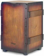 More details for stagg crate cajon drum, sunburst brown caj-crate-sbb