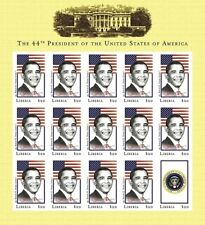 Liberia 44th President of the United States - Barack Obama Sheet of 15 Stamps