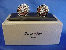 CUFFLINK SET - DARTS & DARTBOARD - IDEAL PRIZE, TROPHY OR MEN'S GIFT (CK240)