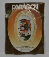Vtg 1986 Hummel Counted Cross Stitch Hoop Kit Stormy Weather 5x9 Lace Complete