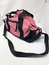 "LL Bean Adventure Duffle Bag Medium Cinch Strap Pink OV273 Embroidered 17"""