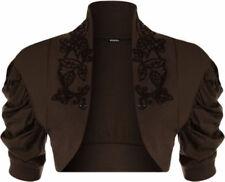 Maglie e camicie da donna marrone in cotone taglia 42