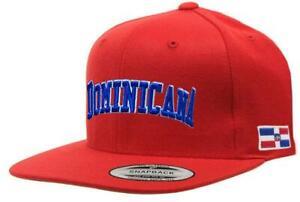 Dominican Republic SnapBack RED Cap (Dominicana)