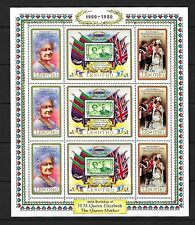 Lesotho 1980 Queen Mother's 80th birthday miniature sheet and announcement UMM