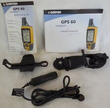 Garmin Handheld Gps 60 Accessories ~2 Manuals, Mount, Auto Cable Only - No Unit
