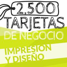 2,500 TARJETAS DE PRESENTACION - BUSINESS CARD