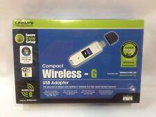 Cisco-Linksys WUSB54GC Compact Wireless-G USB Network Adapter.