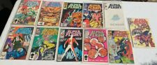 Lot of (11) ALPHA FLIGHT MARVEL COMIC BOOKS 60¢ Universe Spiderman Amazing The