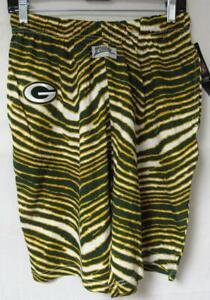 Zubaz Green Bay Packers Women's Size X-Large Zebra Print Shorts C1 1926
