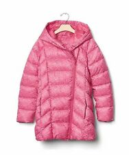 GapFit Girl's Heather Royal Fuchsia Pink Puffer Parka Jacket Coat XXL 14-16 NWT