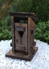 Miniature Dollhouse FAIRY GARDEN Furniture ~ Mini Wood Outhouse ~ NEW