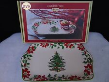 "Spode Christmas Tree 2014 Annual Dessert Tray 12"" Limited Edition #C28"