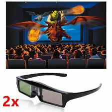 2x 3D Active Glasses 96-144Hz For DLP-Link Projector Optoma BenQ Home Theater