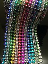 Rainbow Multicolour WEDDING CAKE BLING TRIM DIAMONTE SPARKLY RIBBON 4.5''x1Yard
