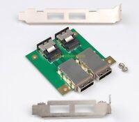 2 Port Internal SFF-8087 36P to External 8088 PCI Mini SAS 26P Adapter SAS RAID