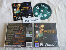 Tomb Raider 3 PS1 (COMPLETE) rare Lara Croft black label Sony PlayStation