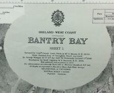 ADMIRALTY SEA CHART. BANTRY BAY - Sheet 1. No.1849. Ireland. 1856