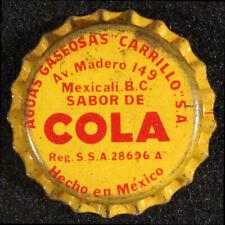 SABOR COLA CORK SODA BOTTLE CAP CROWN CARRILLO MEXICALI, BAJA CALIFORNIA, MEXICO