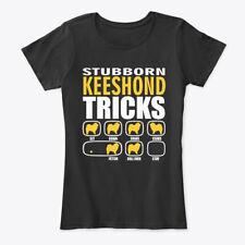 Stubborn Keeshond Dog Tricks Gift Women's Premium Tee T-Shirt