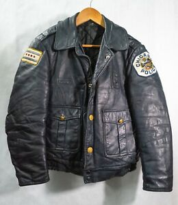 Vintage Chicago Police uniform leather jacket - small