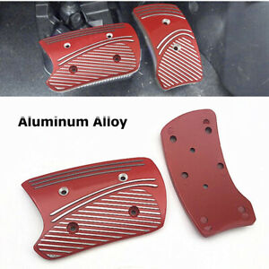 2PCS Non-Slip Car Brake Accelerator Gas Pedals Pads Covers Foot Brake Cover Pad
