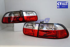 Clear Red JDM Tail light for 92-95 Honda Civic EG 4D Hatch Sedan