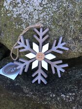 Heaven Sends wooden snowflake Christmas decoration with button set of 3