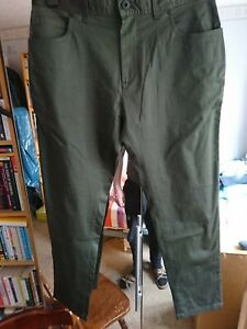 Mens NEXT Trousers Dark Green Size 34 Slim Fit