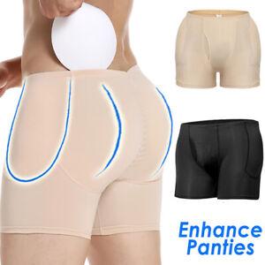 Mens Butt Lifter Padded Briefs Seamless Underwear Booty Hip Enhancer Body Shaper