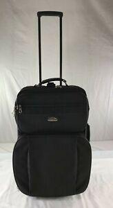 Samsonite Outline II Carry On Upright Wheeled Luggage Soft Case Suitcase Black