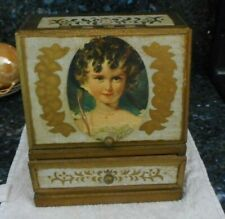 Vintage Florentine Style Tole Jewelry - Music Box