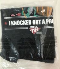 New Full Tilt Poker I KNOCKED OUT A PRO T-Shirt Large L Texas Hold'em VERY RARE