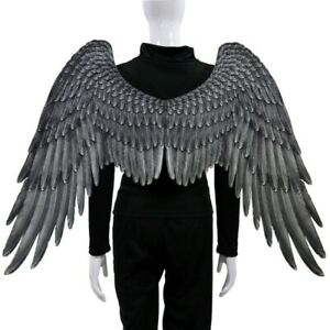 Halloween 3D Large Angel & Devil Big Wings Cosplay Adult & Child Feather Costume